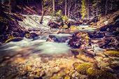 stock photo of bavaria  - Vintage retro hipster style travel image of Cascade of Sibli - JPG