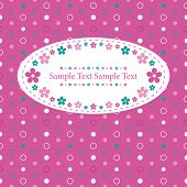 flowery polka dot greeting card