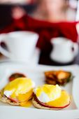 picture of benediction  - Delicious breakfast with eggs Benedict - JPG