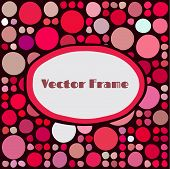 Frame with random colored circles