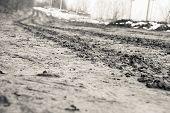 Rural Road With Mud