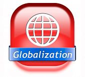 globalization button global open market international worldwide trade and economy