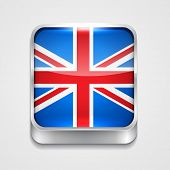 vector 3d style flag icon of united kingdom