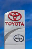 Toyota Automobile Dealership Sign