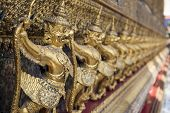 picture of garuda  - Garuda sculpture at Grand Palace  - JPG