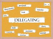 foto of pegboard  - Delegating Corkboard Word Concept with great terms such as tasks work jobs and more - JPG