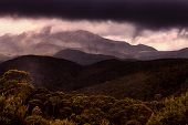Low cloud over mountains