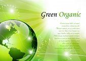 Elegant green background - vector illustration