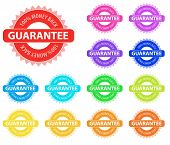 Collection of vector multicolored badges for sales marketing. Easy to edit, any size.
