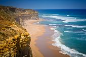 Cliff and beach at Port Campbell National Park, Great Ocean Road, Victoria