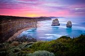 stock photo of tide  - The Twelve Apostles - JPG