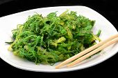 image of green algae  - Japanese algae salad - JPG