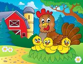 Chicken theme image 5 - eps10 vector illustration.