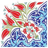 foto of ottoman  - created with traditional Ottoman motifs pattern series - JPG