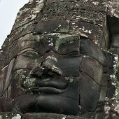 Face of Avalokitesvara in Bayon Temple, Cambodia