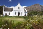 Cape Dutch Style Church In Winelands, South Africa