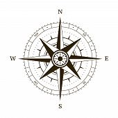 stock photo of longitude  - Navigation compass plot wind rose vector illustration - JPG