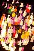 bokeh series - bottles2. abstract colorful background