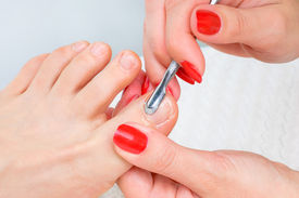 picture of painted toes  - body care series - JPG