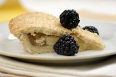 Home Made Bramley Apple Pie With Blackberries