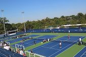 Renovated practice courts at the Billie Jean King National Tennis Center ready for US Open 2014