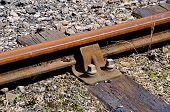 Railway track detail.