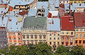 Market Square In A Center Of Lviv City, Ukraine. View From Lviv City Hall Tower