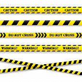 picture of murders  - Set of caution tapes - JPG