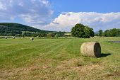 stock photo of haystack  - Provence landscape - JPG