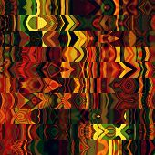 art abstract rainbow graphic background; geometric border stylized pattern with red, gold and green
