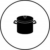 stockpot with lid symbol