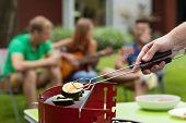 Zucchini On A Barbecue