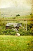 Vintage photo of rural landscape