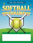 foto of softball  - An illustration of a softball tournament - JPG
