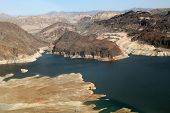 Lake Mead Reservoir With Drought Visible In Nevada And Arizona
