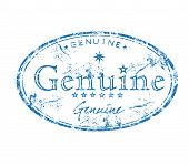 Genuine grunge rubber stamp