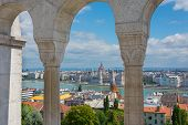 View Through The Arches At The Fisherman's Bastion Budapest Hungary