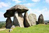 stock photo of megaliths  - The Pentre Ifan - JPG