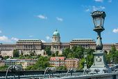 View Of Castle Hill Budapest From Chain Bridge