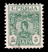 Serbia stamp 1901