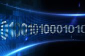 Digitally generated Binary code on digital screen
