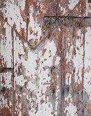 Scratched wood door detail