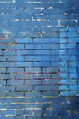 blue and brick wall background