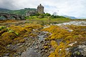 Eilean Donan castle on a rainy day