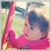 Baby at Playground with instagram effect