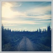 Country Road in Labrador with Instagram effect