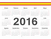 Vector Spanish Circle Calendar 2016