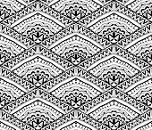 Clear Contrast Ethnic Pattern