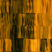 art abstract colorful chaotic waves seamless pattern; background in gold and black colors