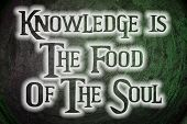 Knowledge Is The Food Of The Soul Concept